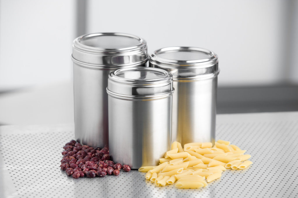 metal containers with lids for storage