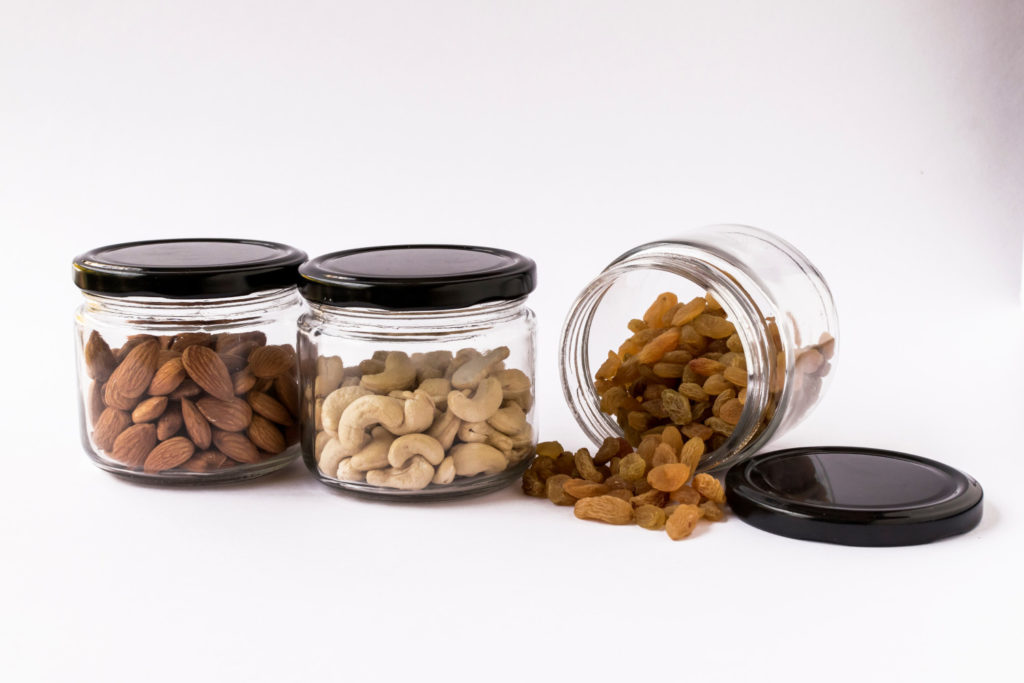 small glass containers with lid